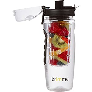 Brimma Leak Proof Fruit Infuser Water Bottle, Large 32 Oz.