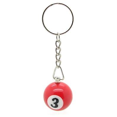 llavero bola de billar carambola colgante con anillo número ...