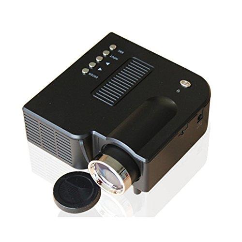 Lightinthebox QVGA 400 LM Mini HD Home LCD Projector with HDMI Input TV PC Laptop PC SD Card Slot, USB, VGA Port, 3-in-1 AV (Black)