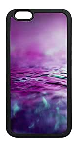 iPhone 6 Plus Case, Abstract Flower Purple Water Blur Background TPU Rubber Bumper Polycarbonate Hybrid Case Full Protection Case for iPhone 6 Plus 5.5 Black
