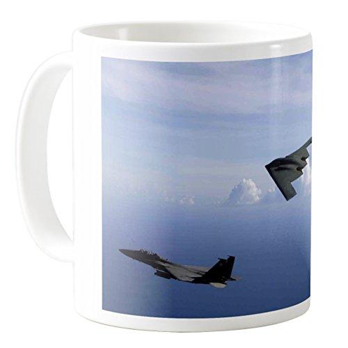 - AquaSakura - F 15e B 2 Spirit Bomber Aircraft Us Air Force - 11oz Ceramic Coffee Mug Tea Cup