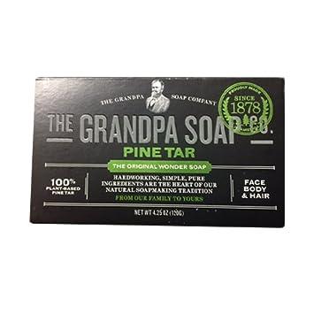 Grandpa Soap Pine Tar 4.25 oz Pack of 6