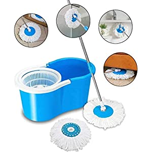 Vikas Mop Floor Cleaner with Bucket Set Offer with Big Wheels for Best 360 Degree Easy Magic Cleaning, 4 Microfiber…