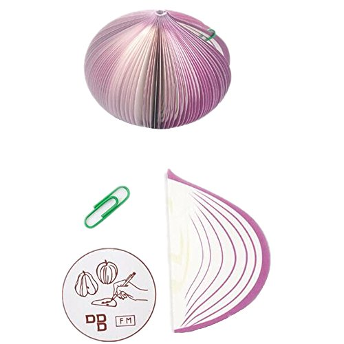 Novelty-3D Stereo Creative Red Apple Cabbage Onion Kiwi Notes, Memo, School Work Family Notes Pad, Pack of 2 (the same color) (purple)