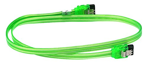 C&E 10 Pack 24 inch SATA 6Gbps Cable w/Locking Latch UV G...