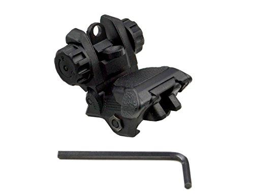 Rear Sight (SNIPER® Tactical Smart Polymer Picatinny Rear Flip Up Backup AR15 AR-15 M16 M4 M-4 Flattop Sight)