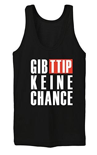 Gib TTIP Keine Chance Tanktop Girls Nero