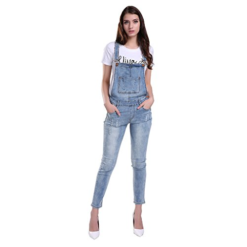 GCAROL Womens Ripped Jumpsuits Overalls