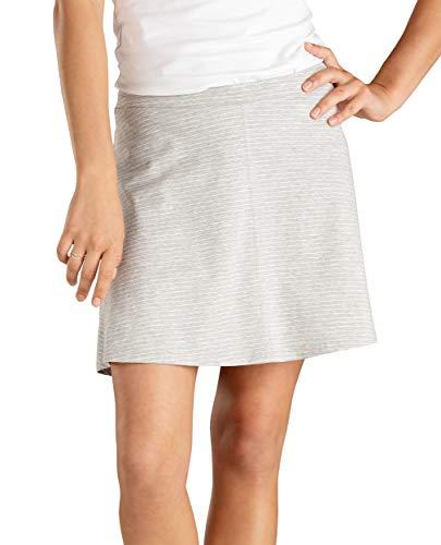 (Toad&Co Women's Seleena Skort, Heather Grey Mini Stripe, L)