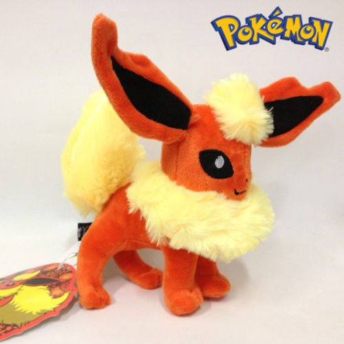 Stuffed Pokemon Flareon - Plush Animal That's Suitable For Babies and Children - Perfect Birthday Gifts - Toy Doll for Baby, Kids and Toddlers (Plush Pokemon Prime)