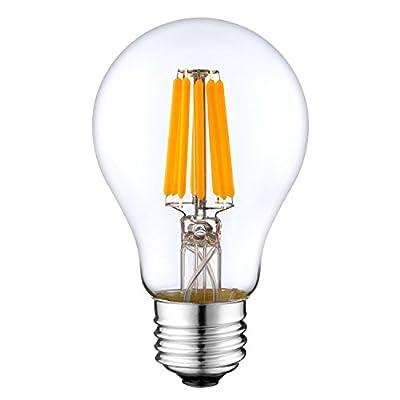 DC 12V Light Bulb A19 A60 LED Edison Filament E26 Screw Base Lamp DC Low Voltage RV Marine Boat Classic Industrial Prop Retro Landscape Industrial Lighting 12 Volt Battery Lighting