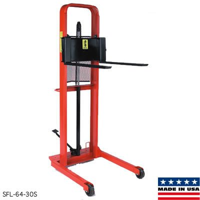 Wesco Straddle Fork Hydraulic Stacker - 32-1/2''Wx48''D - 64'' by Wesco