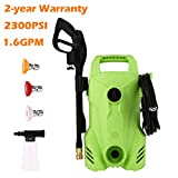 Homdox Electric Pressure Washer Power Washer 2300 PSI 1.6 GPM Electric Power Washer with Adjustable 3 Spray Nozzles, 1400W