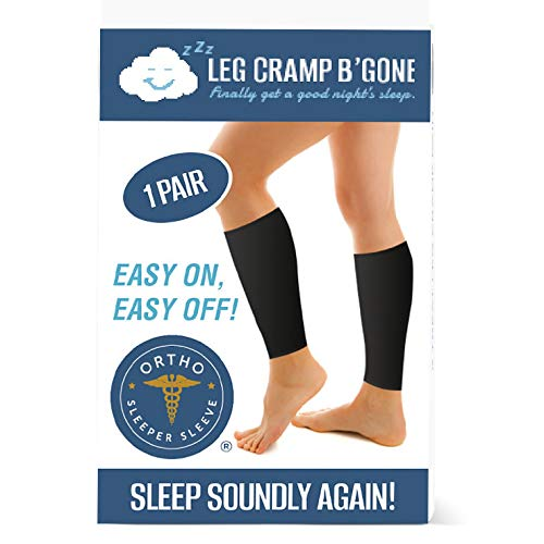 Sleeper SleevesTM Can Stop and Prevent Night Leg Cramps - Easy On, Easy Off - One Size for Small, Medium, Large - No XL or XXL - Maximum Calf Size - 17 inch -