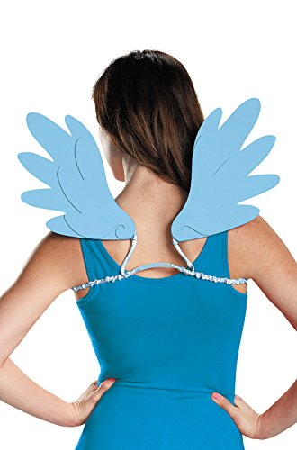 Disguise Women's Rainbow Dash Adult Costume Wings, Blue, One Size (Rainbow Wings Costume)