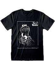 Sesame Street Cookie Monster Godfather Women's Boyfriend Fit T-shirt | Official Merchandise | S-XXL, Vaderdag Ladies Baggy Loose Oversized Top, verjaardagsgiftidee voor Mums