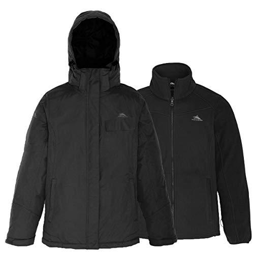 High Sierra Men's Alta Insulated Interchange Jacket, Medium, Black