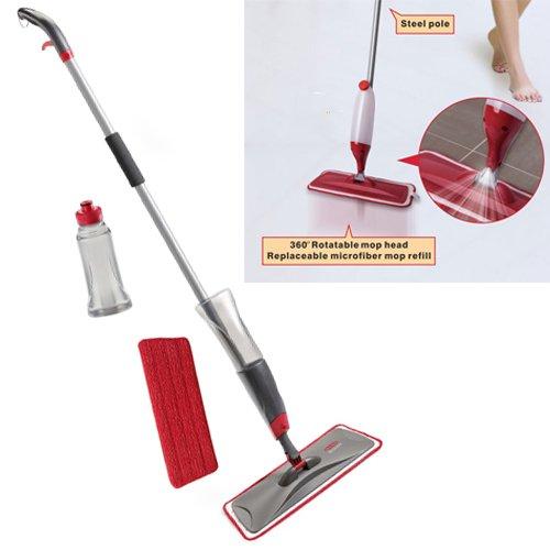 Trigger spray Water Spraying floor cleaner mop Microfibre Flat Spray mop...