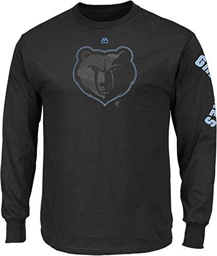 NBA Memphis Grizzlies Men's Easy Choice Long Sleeve Basic Tee, XX-Large, Black
