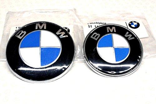 BMW 82 MM et 74 mm capot de coffre Badge de capuche de base chromé e avec la plupart des Series AFTER MARKET PARTS