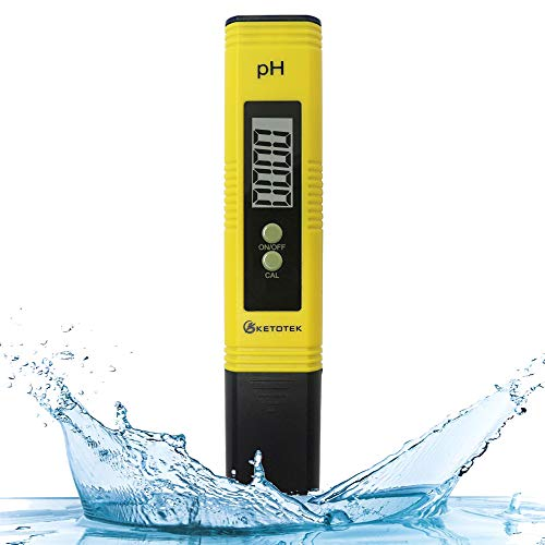 KETOTEK Digital PH Meter, PH Meter with ATC, Water PH Test Meter with 0.00-16.00ph Measure Range for Drinking Water, Hydroponics, Aquariums, Swimming Pools. High Accuracy 0.01 PH Pen Tester (Best Digital Ph Meter)