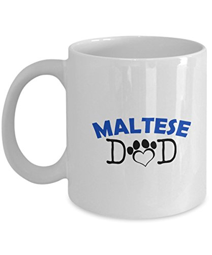 Funny Maltese Couple Mug – Maltese Dad – Maltese Mom – Maltese Lover Gifts - Unique Ceramic Gifts Idea (Dad)