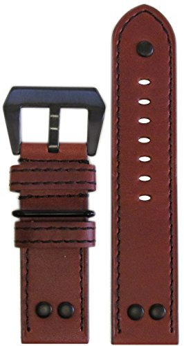22mm-XL-PanatimeMB-1-Vintage-Chestnut-Brown-Pilot-Watch-Band-with-Black-Stitching-2222-13585