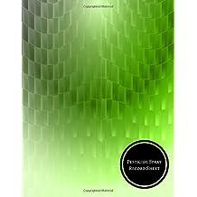 Pesticide Spray Record Sheet: Chemical Application Log