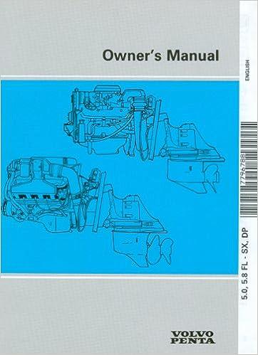 Volvo Penta Owner's Manual 7796788: Volvo Penta: Amazon com: Books
