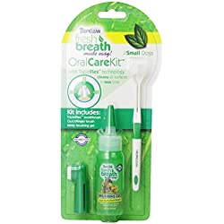 TropiClean Fresh Breath Small Dog, Puppies Oral Care Kit Remove Tooth Plaque & Attack Tartar