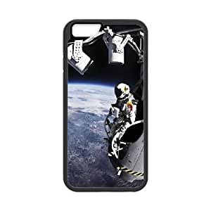 iPhone 6 Plus 5.5 Inch Cell Phone Case Black Outer Space Over Planet Detective Astronaut OJ539667