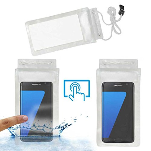 Acm Waterproof Bag Case Compatible with Samsung Galaxy S7 Edge Mobile  Rain,Dust,Snow   Water Resistant  Transparent