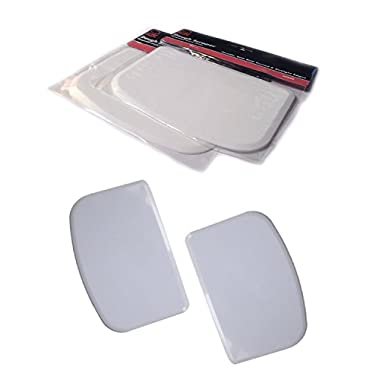 Set of 2 Plastic Bowl and Dough Scrapers, Curved and Straight Edge