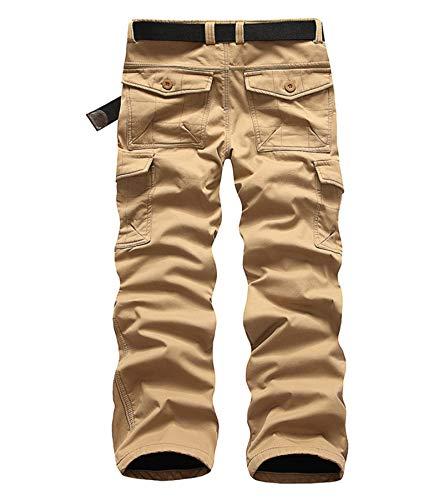 Fleece Combat Trousers Thicken Casual Polar Work Cargo Camo Pants Wanoto Khaki Winter tq0fRR