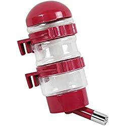 CHONGWFS Pet Drinking Fountains Dog Water Dispenser Dog Kettle Cat bottle with Automatically Feeding Water (Color : Red)