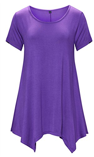 DB-MOON-Womens-Tunic-Tops-Short-Sleeve-T-Shirts-Dress-S-XXXL