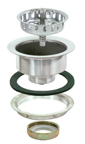 (EZ-FLO 30011 Removable Kitchen Sink Basket Strainer Drain Assembly Kit with Brass Slip-Joint Nut, Spin and Seal, 3-1/2-inch to 4-inch Opening)