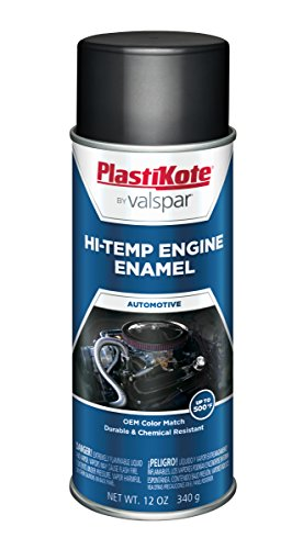 Paint High Temp Enamel Gloss (PlastiKote 215 Low Gloss Black Engine Enamel, 12 oz.)