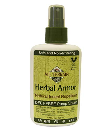 All Terrain Effective DEET-Free Herbal Armor Insect Repellents, Effective Bug Spray with Natural Repelling Oils, Good for Sensitive Skin & Kids, Great for Travel, Camping, Outdoor Activities, With Different Sizes For You & Your Family