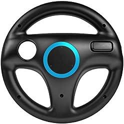 booEy Lenkrad Wheel für Nintendo WII und Wii U Mario Kart schwarz