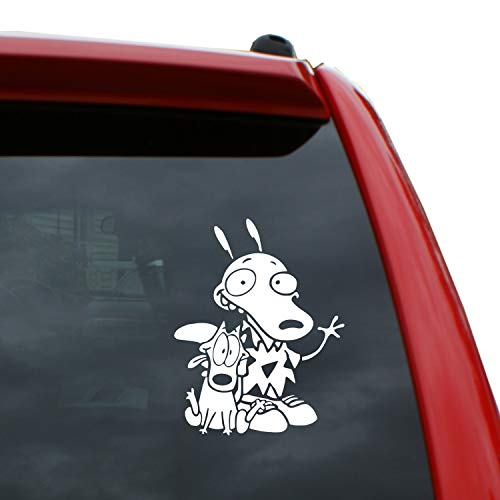 (Black Heart Decals & More Rocko's Modern Life - Rocko and Spunky Vinyl Decal Sticker | Color: White | 5