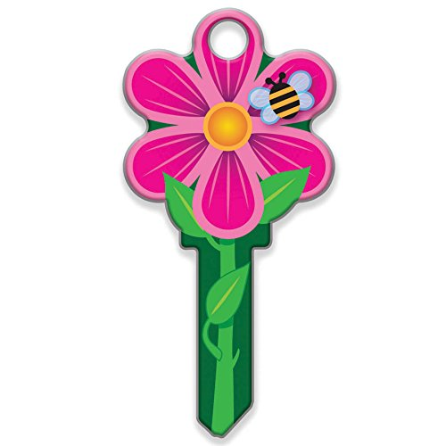 Lucky Line Key Shapes, Flower, House Key Blank, WR5, 1 Key (B106W) (One Key Blank)