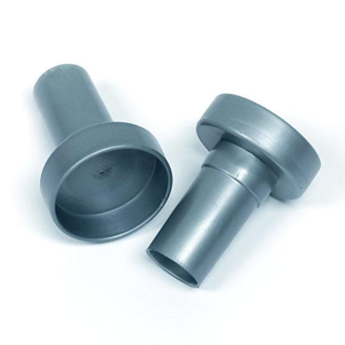 Rubbermaid Configurations Custom Closet Rod Endcaps, Titanium, 1807630