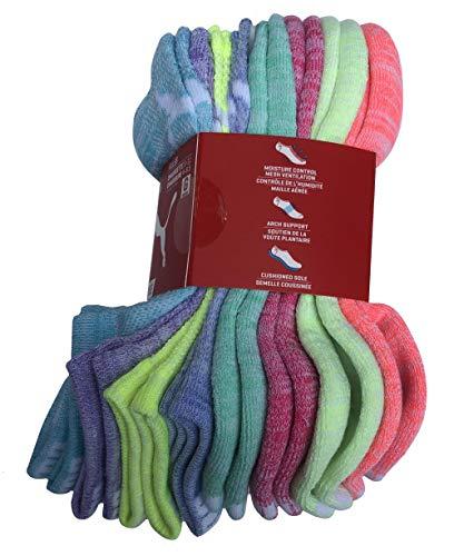 PUMA Girls No Show Sport Socks 8 Pack (9-11)