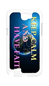 BlackKey keep calm and have faith Snap-on Hard Back Case Cover Shell for Samsung Note 2 N7100 N7108 N7102 N719 -673