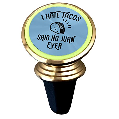 Happy Index I Hate Tacos Said No Juan Ever 360° Rotation Air Vent Magnetic Car Mount Cell Phone Holder Compatible for iPhone Xs/Xs Max/XR/X / 8/7 / Plus Samsung Galaxy S9 / S8 and More -