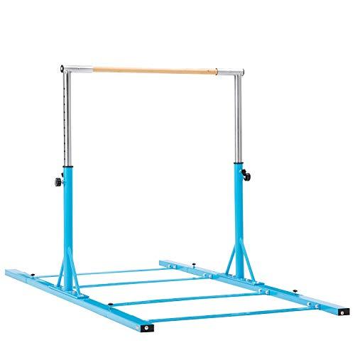 Usexport Gymnastics Expandable Junior Training Bar Adjustable 3 to 5 Horizontal Bar Blue