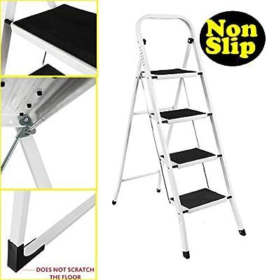 Escalera plegable 14 en 1 para loft, escalera plegable de aluminio, capacidad hasta 150 kg, estándar EN 131, multicolor: Amazon.es: Hogar