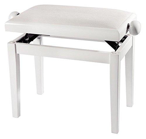 Starion SPB30 Piano Bench - White High Gloss Finish