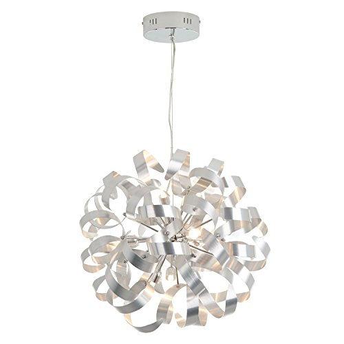 Artika FA27SLF HD1 Fame Pendant Chandelier Light 18-inches Fixture with Integrated LED, Chrome Finish